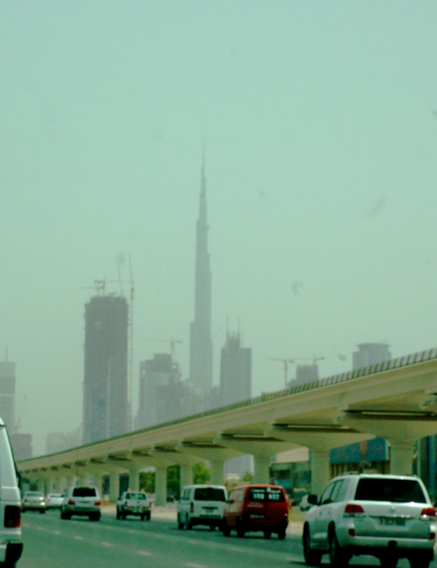 Burj Khalifa, at 828m the tallest man-made structure ever built, towering out above the Dubai skyline